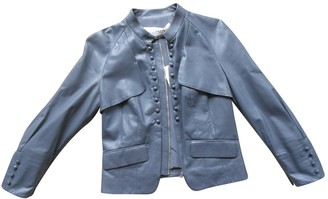 Valentino Grey Leather Leather Jacket for Women