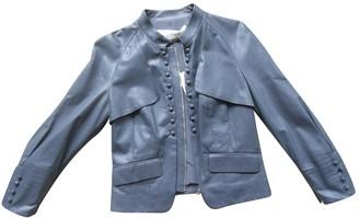Valentino Grey Leather Leather jackets