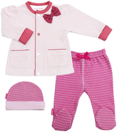 Kushies Fuchsia I Love Spring Take Me Home Pants Set - Infant