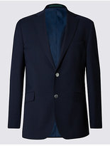 M&S Collection Performance Wool Blend 2 Button Blazer with OdegonTM