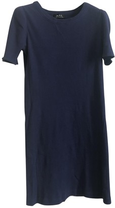 A.P.C. Blue Cotton - elasthane Dresses