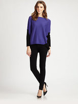 Lafayette 148 New York Colorblock Dolman Sweater