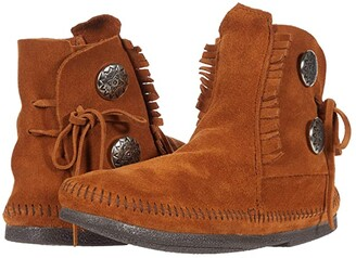Minnetonka Two-Button Boot (Brown Hardsole) Men's Boots