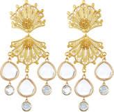 Mallarino Double Shell Drop Earrings