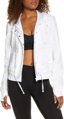 Blanc Noir Skyfall Hooded Aviator Jacket