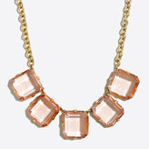 J.Crew Factory Crystal cube necklace
