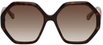 Chloé Tortoiseshell Esther Hexagonal Sunglasses
