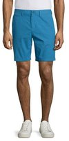 Burberry Archive Flat-Front Chino Shorts, Lupin Blue