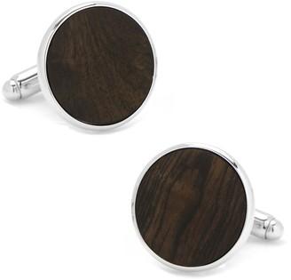 Cufflinks Inc. Black Satin Wood Cuff Links