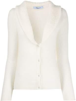 Blumarine shearling lined cardigan