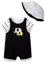 Offspring Wild Ones Tee, Shortall, & Hat Set (Baby Boys)