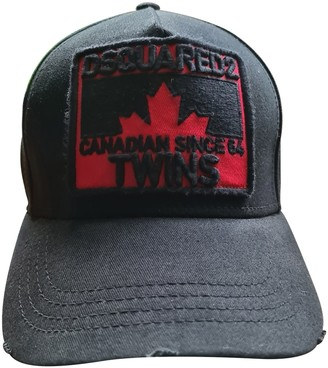 DSQUARED2 Black Cloth Hats & pull on hats