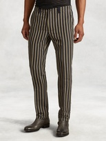 John Varvatos Cotton Blend Vintage Stripe Pant