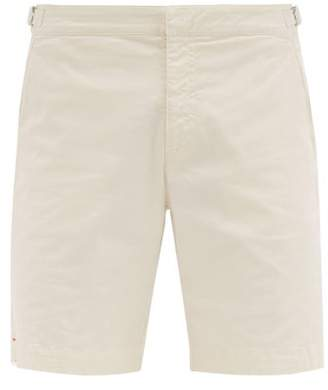 Orlebar Brown Dane Tailored Cotton-twill Shorts - Mens - Cream