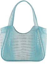 Nancy Gonzalez Small Dipped Crocodile Tote Bag, Blue F6