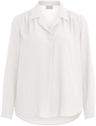 Vila Plain Straight Blouse with Long Sleeves