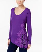 INC International Concepts Crocheted Asymmetrical Top, Only at Macy's