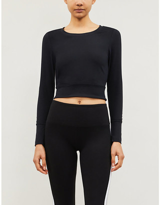 Lorna Jane Bare Minimum open-back cotton-jersey top