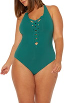 Bleu By Rod Beattie Basket Weave One-Piece Swimsuit