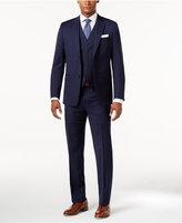 Lauren Ralph Lauren Men's Total Stretch Navy Wide Pinstripe Pure Wool Slim-Fit Vested Suit