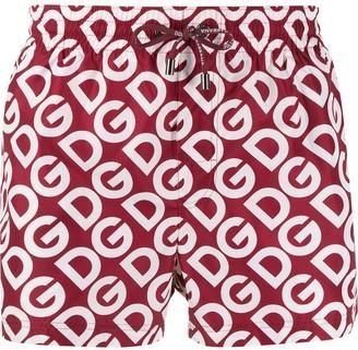 Dolce & Gabbana Logo Print Swimming Shorts