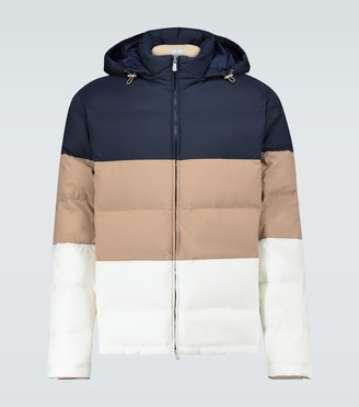 Brunello Cucinelli Colorblocked nylon jacket
