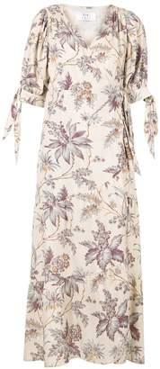 Sir. floral-print wrap dress