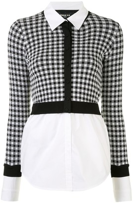Paule Ka Checked Cropped Cardigan