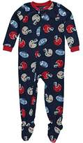 """Carter's Little Boys' Toddler """"Helmet Clash"""" Footed Pajamas"""