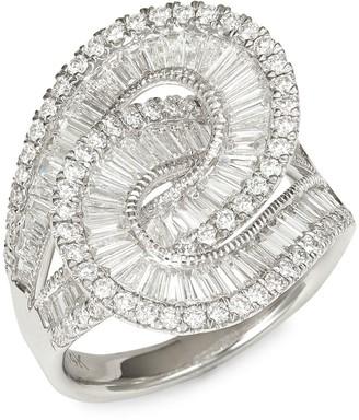 Effy 14K White Gold & Diamond Infinity Loop Ring