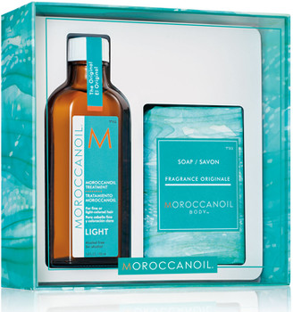 Moroccanoil Treatment Light 100ml + Free Soap 200g - Limited Edition