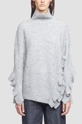 3.1 Phillip Lim Cropped Ruffle Trim Sweater