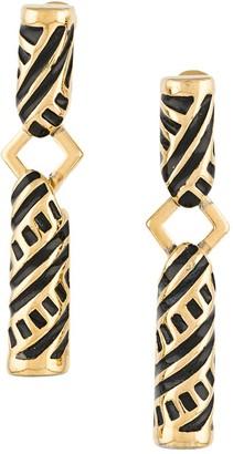 Monet Pre Owned 1980s Geometric Pendant Earrings