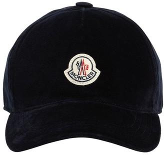 Moncler Cotton Velour Logo Cap