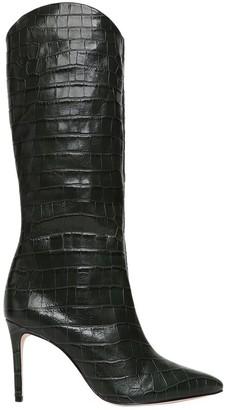 Schutz Maryana Knee-High Croc-Embossed Leather Boots