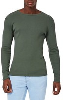 Topman Men's Rib Knit Long Sleeve T-Shirt