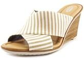 Dr. Scholl's Jada Women Open Toe Canvas Tan Wedge Sandal.