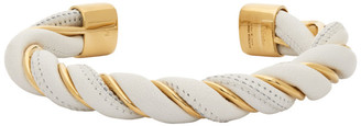 Bottega Veneta White and Gold Twist Bracelet