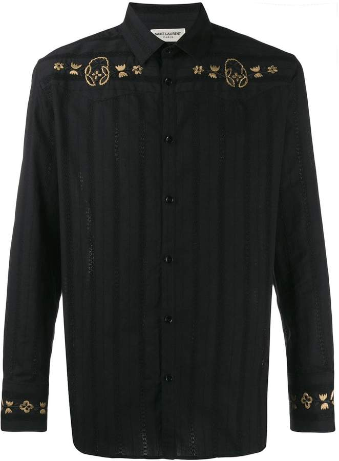 78a6babfed western-style embroidered shirt