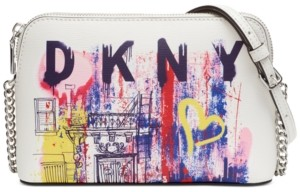 DKNY Bryant Leather Dome Logo Crossbody, Created for Macy's