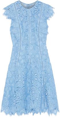 Lela Rose Corded Lace Mini Dress