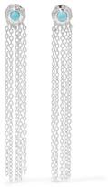 SCOSHA - Wondersun Shower Silver Turquoise Earrings - one size