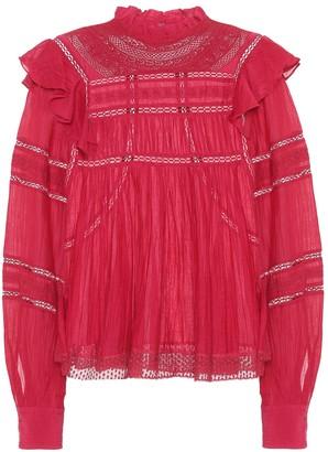 Etoile Isabel Marant Viviana cotton-blend blouse