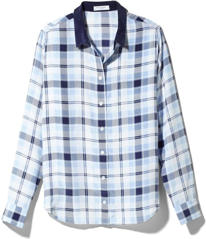 Equipment Audrey Silk Shirt With Contrast Collar