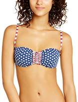 Saint Tropez Kiwi Women's Strapless Printed Bikini Top - - 8