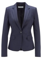 HUGO BOSS - Regular Fit Jacket In Micro Patterned Wool - Patterned