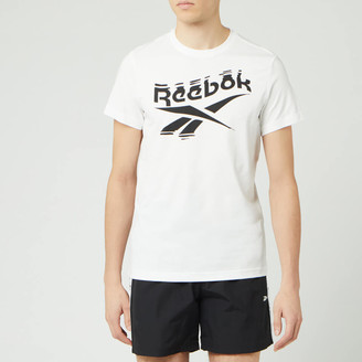 Reebok Men's Branded Crew Neck Short Sleeve T-Shirt