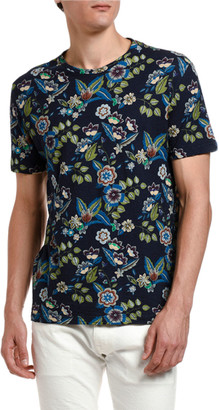 Etro Men's Hawaiian-Print Crewneck T-Shirt
