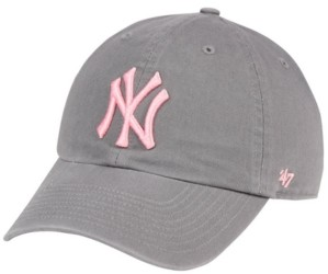 '47 New York Yankees Dark Gray Pink Clean Up Cap
