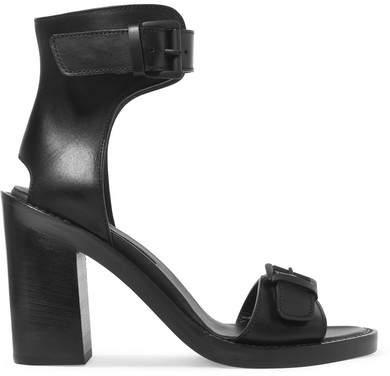 Ann Demeulemeester Buckled Leather Sandals - Black